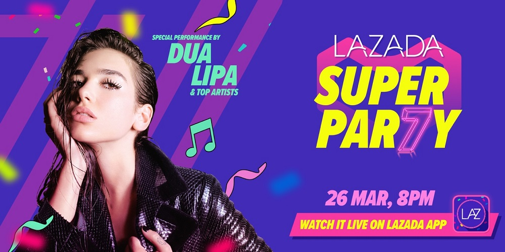 Lazada to hold a live concert on the ever of its 7th Birthday Bash Event