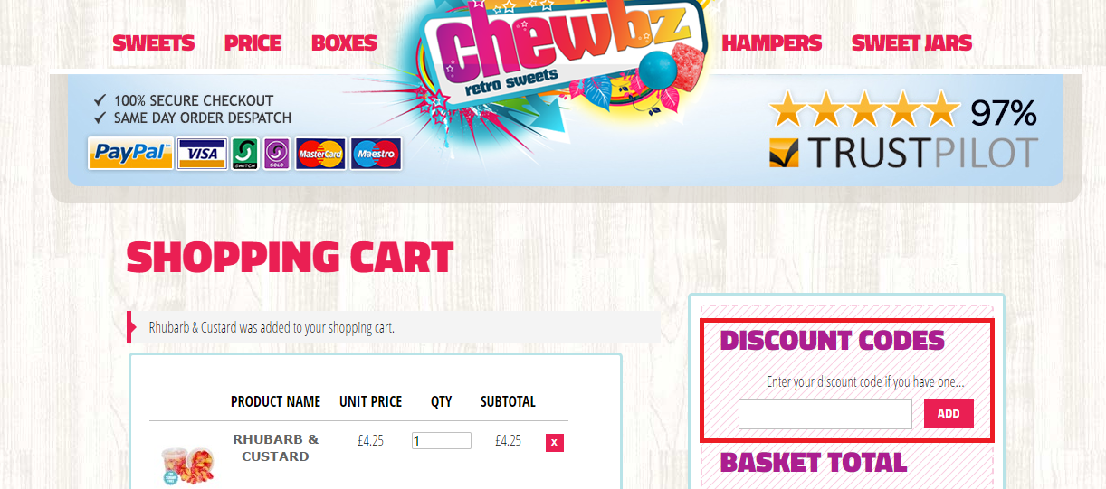 How to use a Chewbz Voucher Codes
