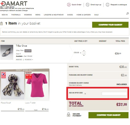 How to use a Damart coupon