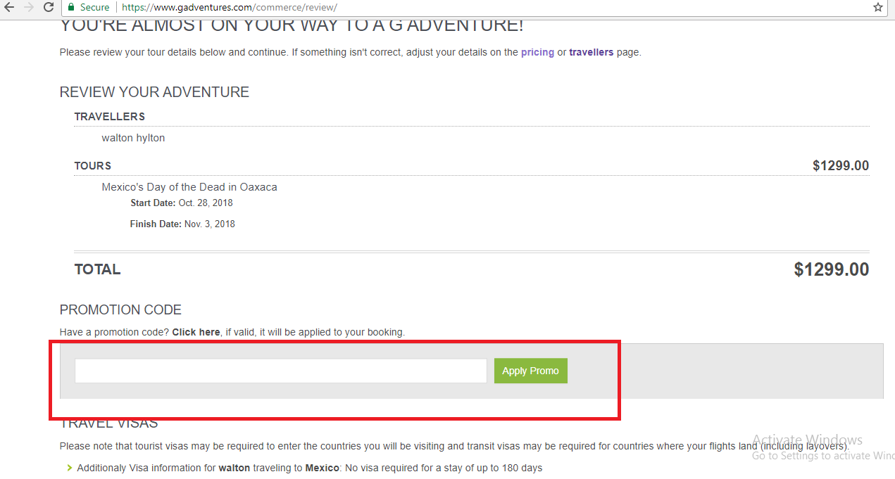 How to use a G Adventures coupon