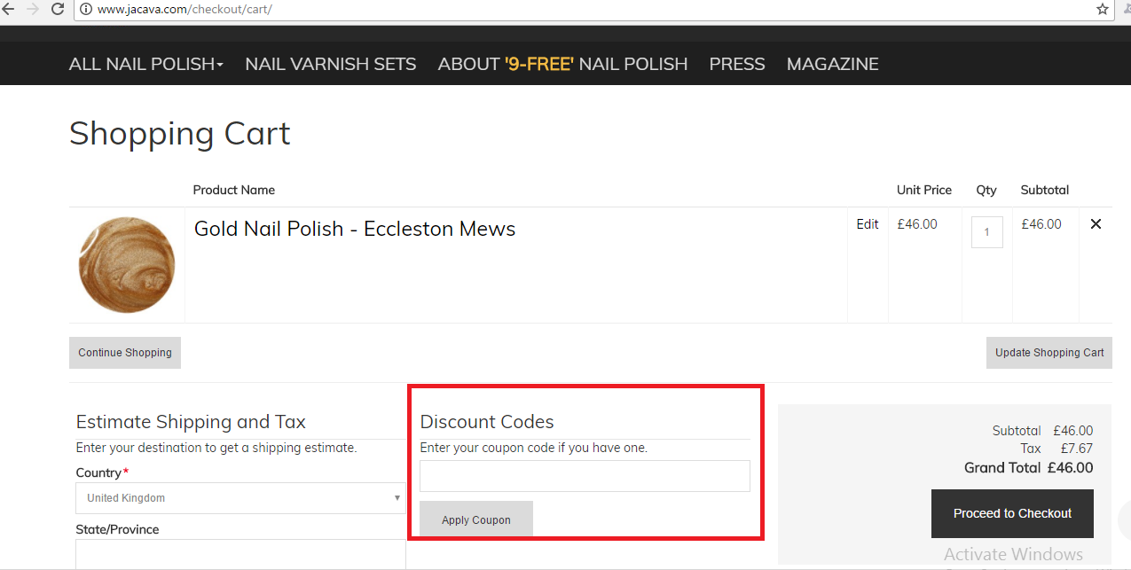 How to use a Jacava Voucher Codes