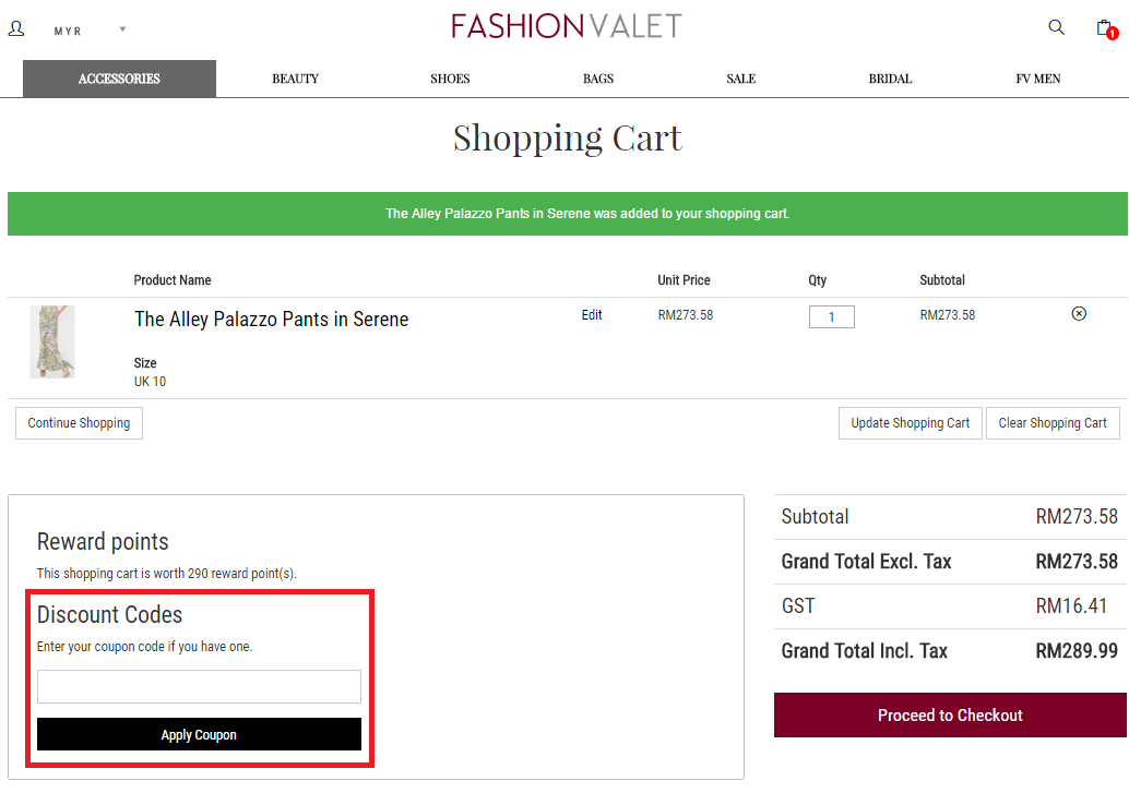 How to use a Fashion Valet Voucher Codes