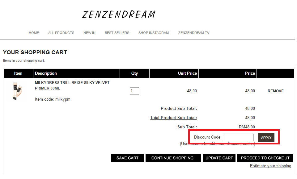 How to use a Zen Zen Dream Voucher Code