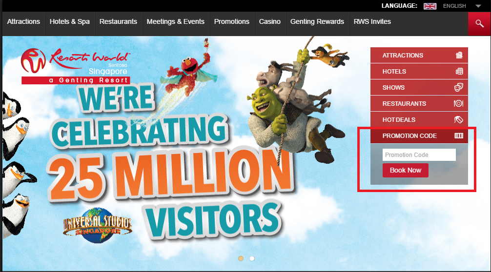 How to use a Resorts World Sentosa coupon