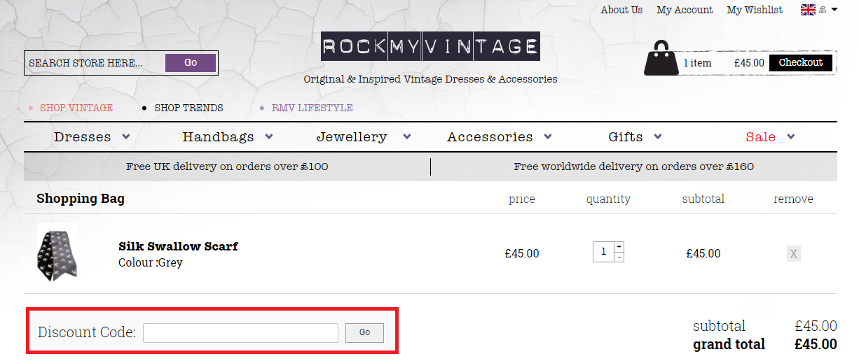 How to use a Rock My Vintage Voucher Codes