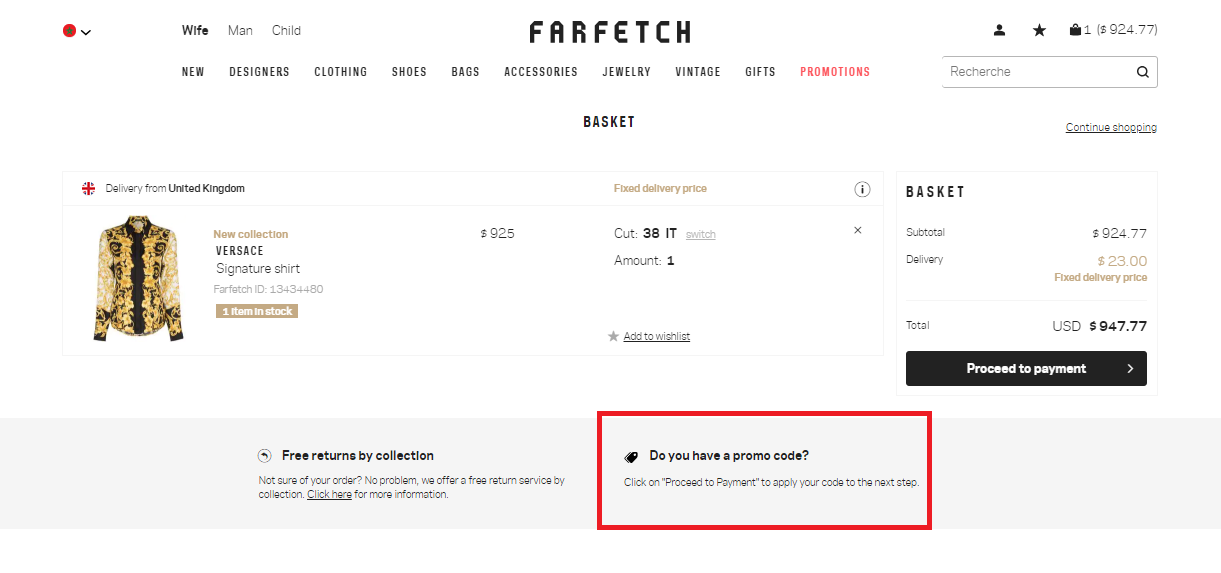 How to use a Farfetch Voucher Codes