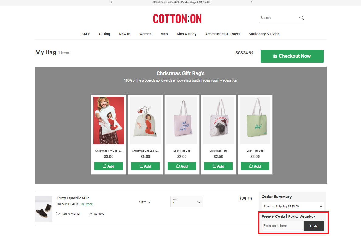 How to use a Cotton On Promo Code