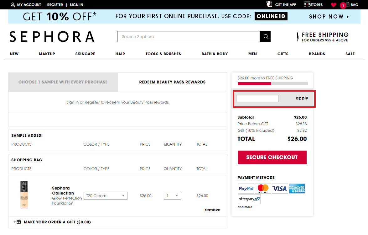 How to use a Sephora  Discount Codes