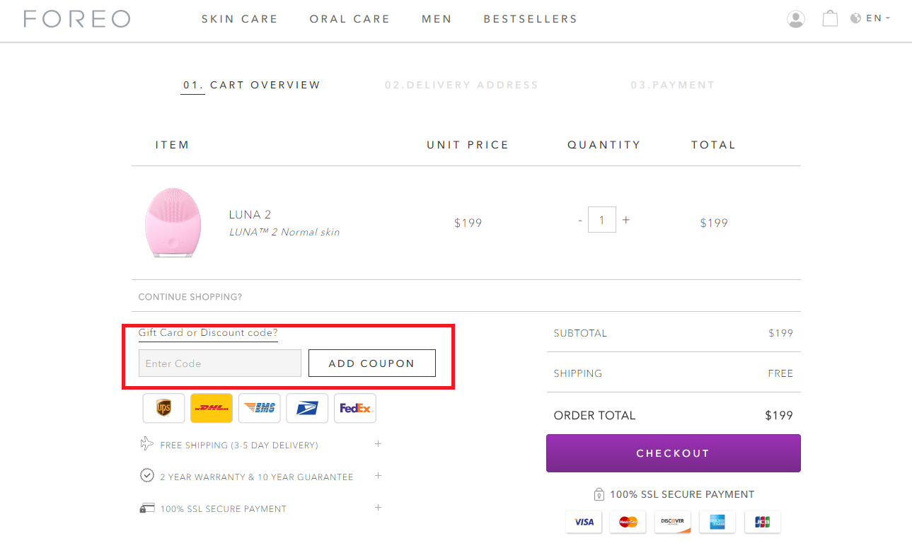 How to use a Foreo Promo Code