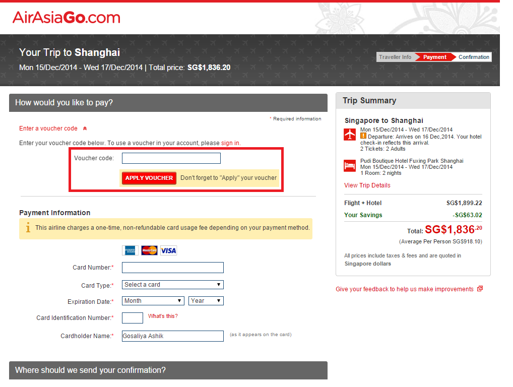 How to use a AirAsiaGo coupon