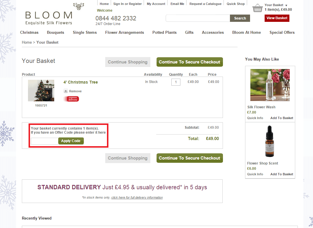 How to use a bloom Voucher Codes