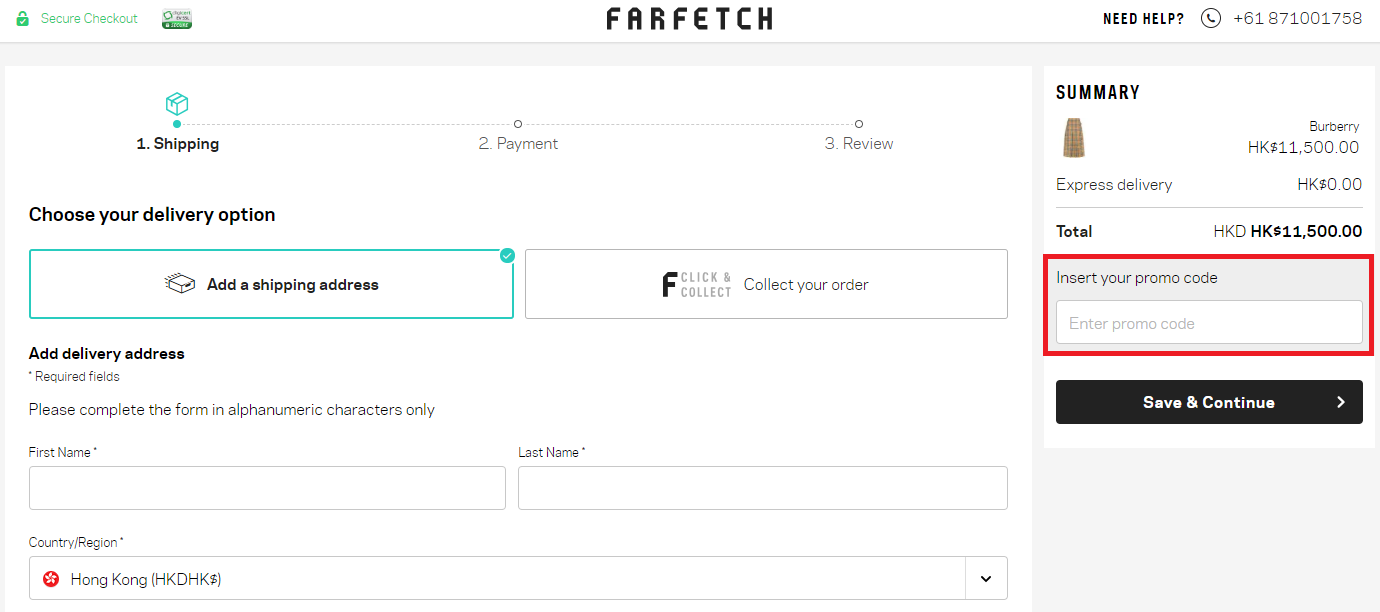 FarFetch Promo Code   10% OFF   February - 2019   Hong Kong 1238461013f