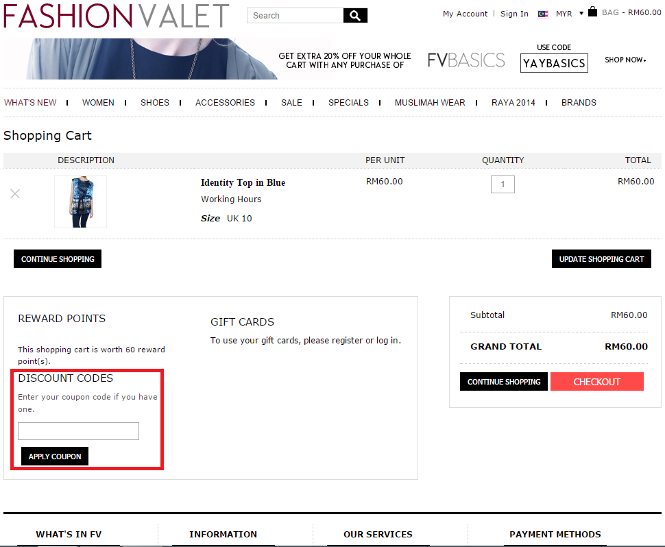 How to use a Fashion Valet Voucher Code