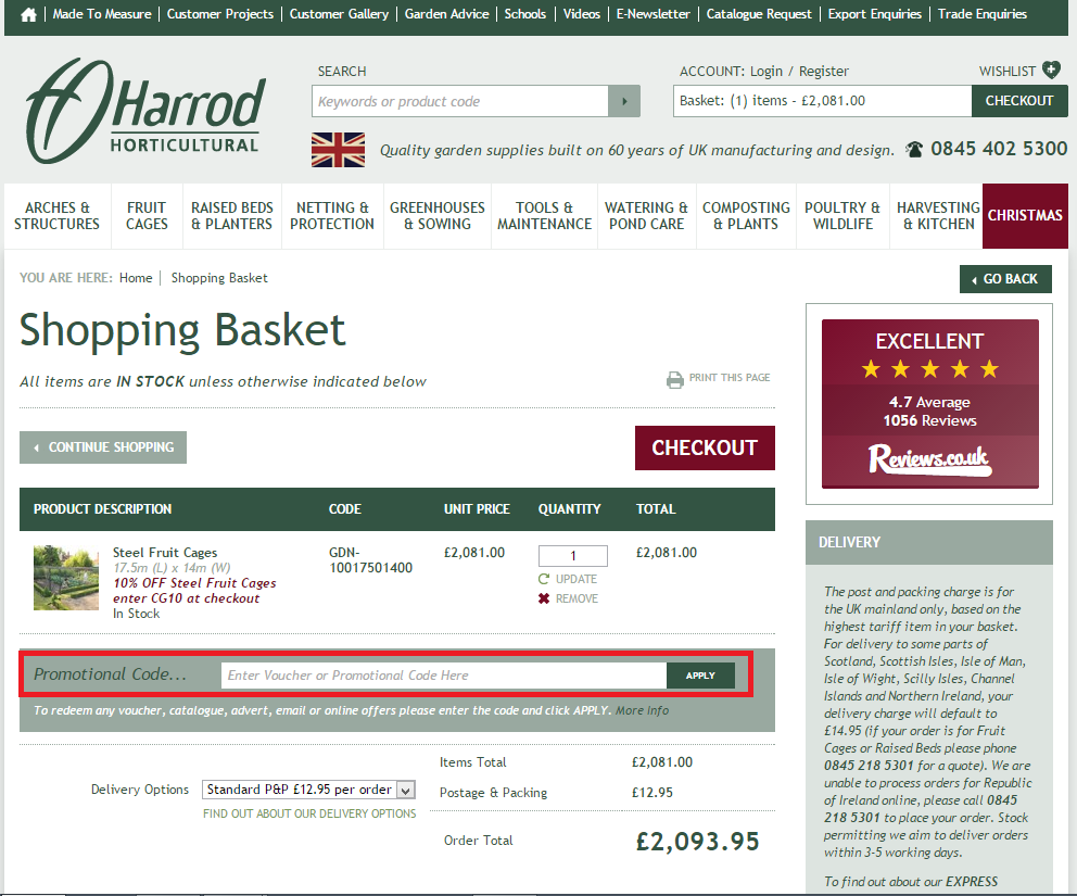 How to use a Harrod Horticultural Voucher Codes
