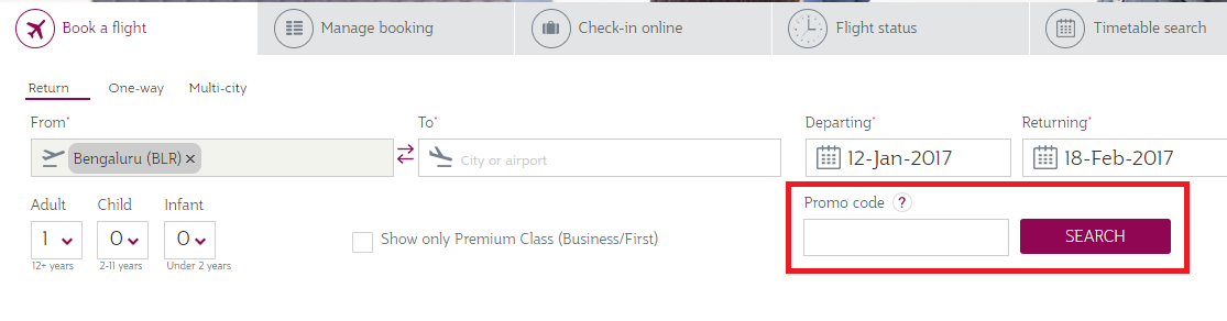 How to use a Qatar Airways  Discount Codes