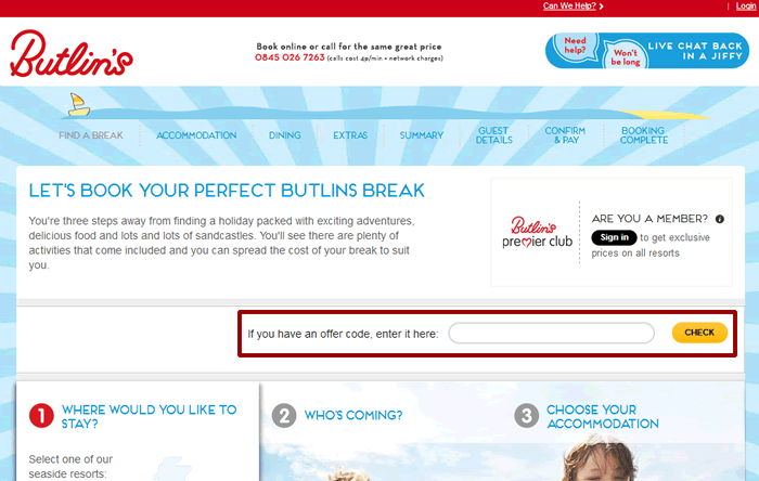 How to use a Butlins coupon