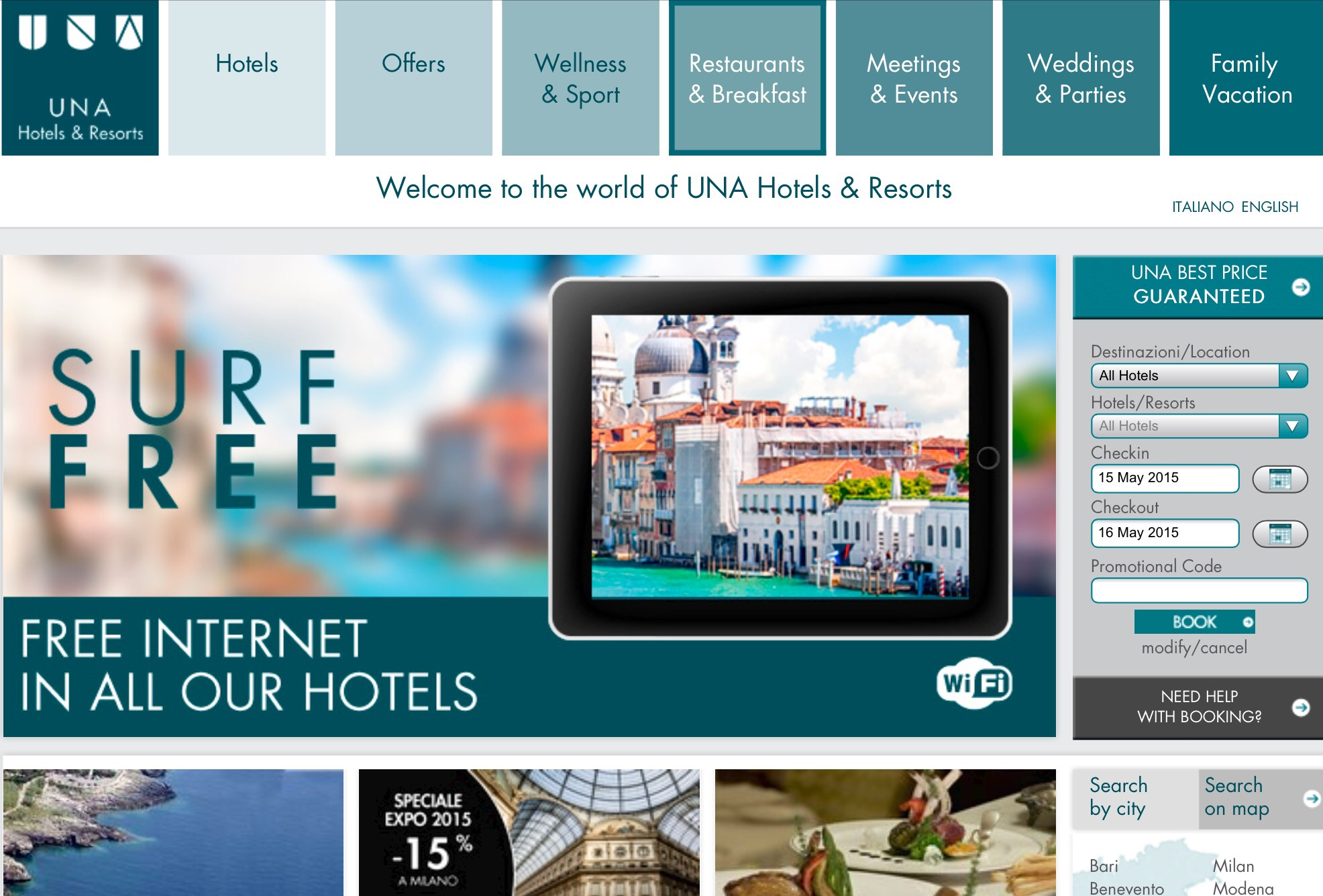How to use a UNA Hotels coupon