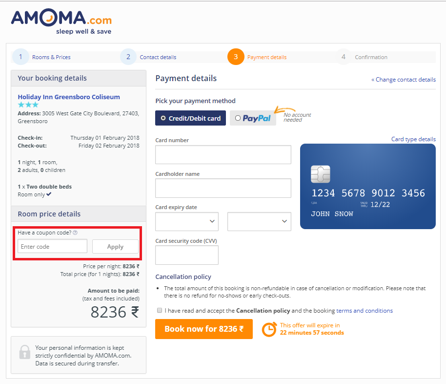 How to use a Amoma.com Voucher Code