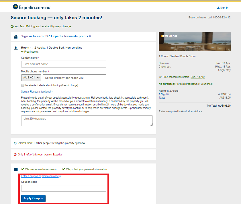How to use a Expedia  Discount Codes