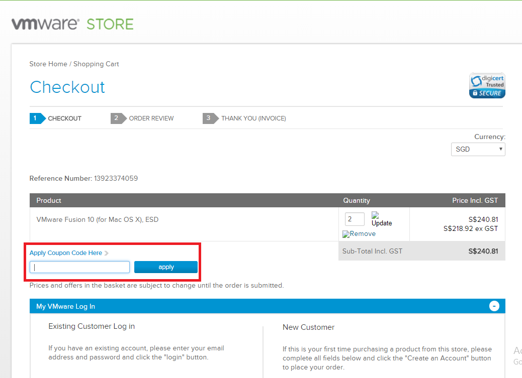 How to use a VMware Kode Voucher