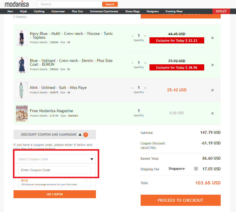 How to use a Modanisa Voucher Codes