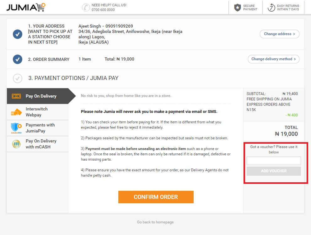 Jumia Coupon Code & Voucher | NGN 3,000 OFF | December