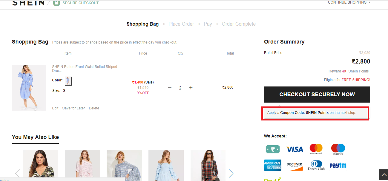 How to use a Shein Promo Code