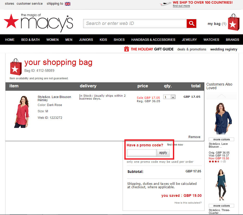 How to use a Macys coupon