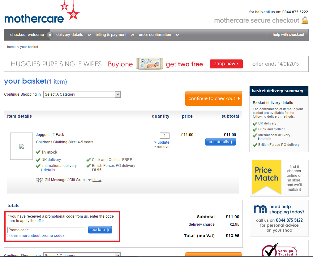 How to use a Mothercare Voucher Codes