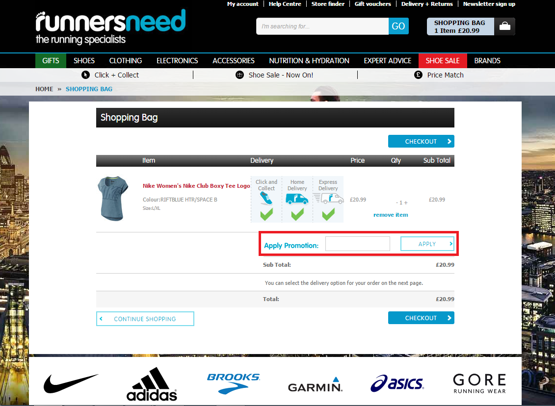 How to use a Runners Need Voucher Codes