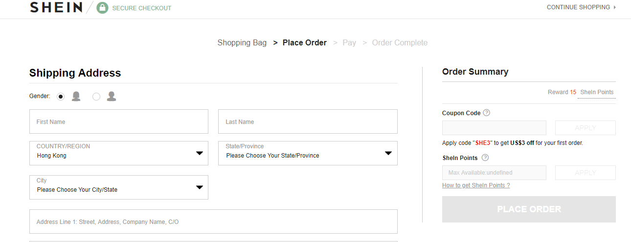 How to use a Shein  Discount Codes