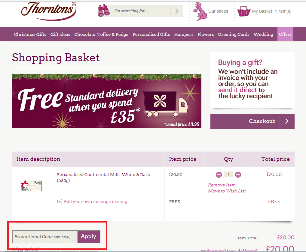 How to use a Thorntons coupon