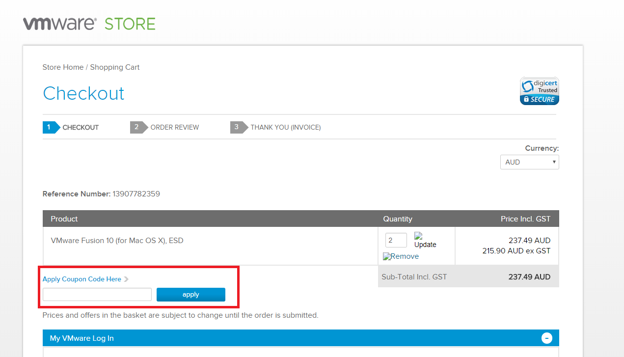 How to use a VMware Voucher Codes