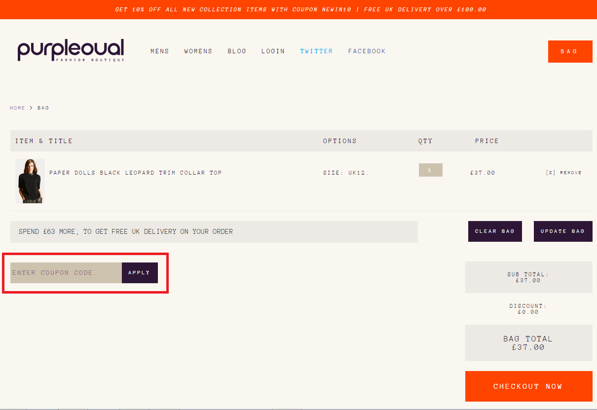 How to use a purpleoval Voucher Codes