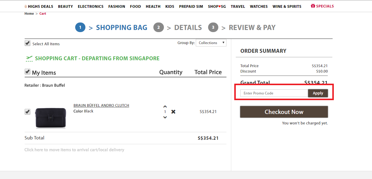 How to use a iShopChangi Promo Code