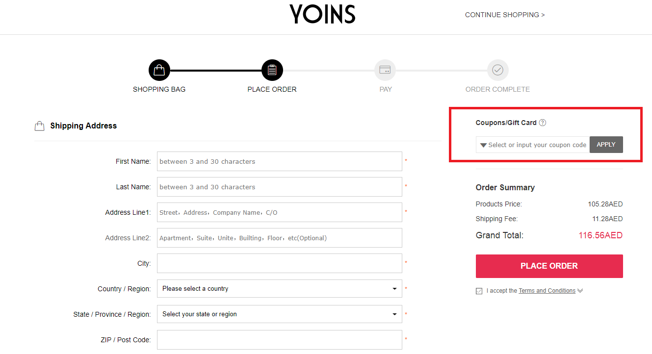 How to use a Yoins Coupon Codes