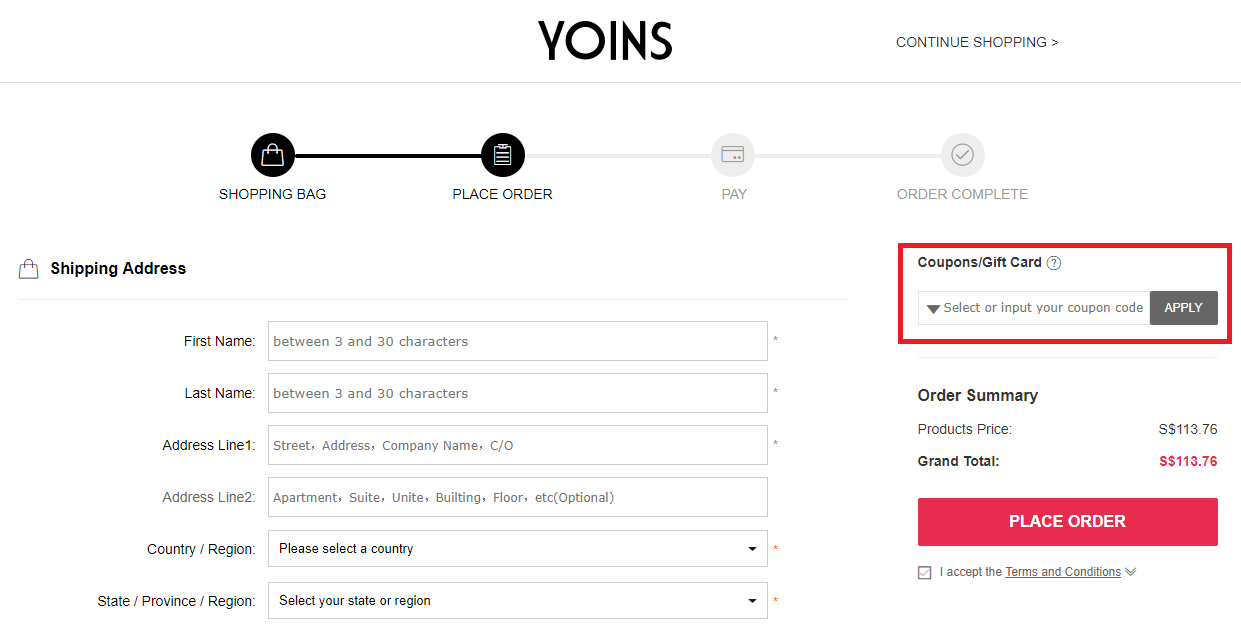 How to use a Yoins Promo Code