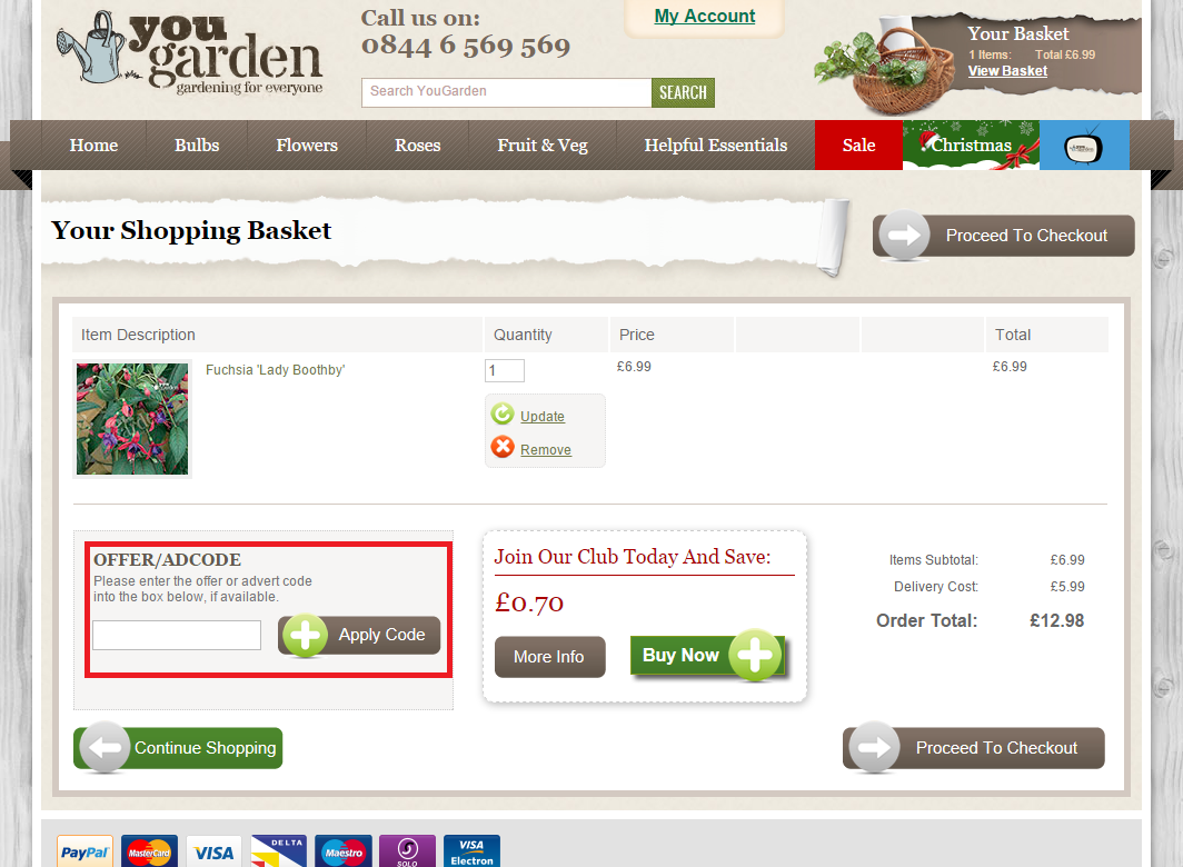 How to use a You Garden coupon