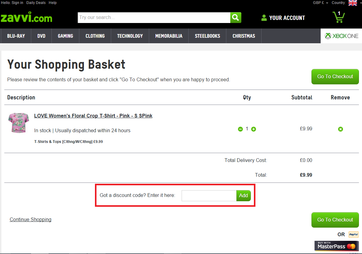 How to use a Zavvi coupon